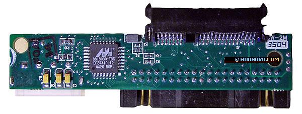 Адаптер Logicube: нижняя и верхняя поверхности платы