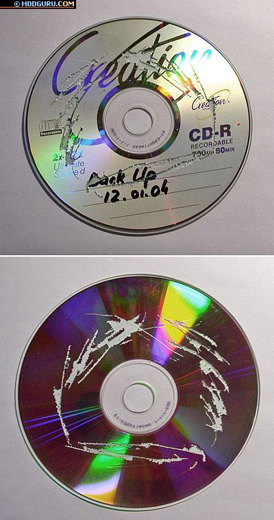 Уничтожение носителя CD