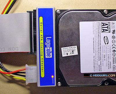 Подключение накопителя SATA к PATA-порту через адаптер Logicube