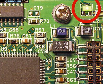 Индикатор активности на плате накопителя Samsung (WNR-310601A)