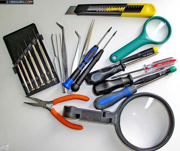 Инструменты, необходимые для проведения работ по замене головок