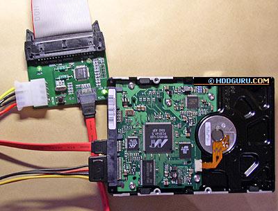 Подключение накопителя SATA к РАТА-порту через адаптер ACE Lab