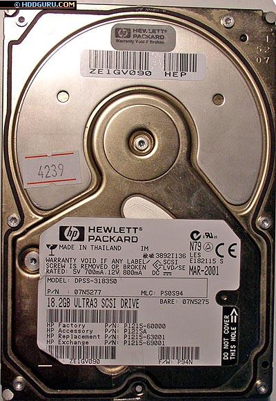 Современные SCSI-диски, используемые в серверах