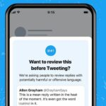Twitter начал предлагать пользователям внести изменения в оскорбительные ответы